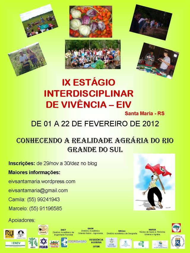 IX Estágio Interdisciplinar de Vivências Santa Maria-RS