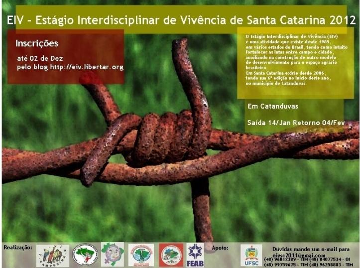 Estágio Interdisciplinar de Vivências de Santa Catarina 2012